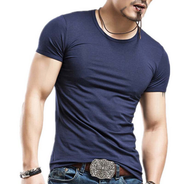 Fashion Casual short-sleeved men t-shirt men brand Cotton T-shirts plus size S-XXL Men t-shirt free shipping