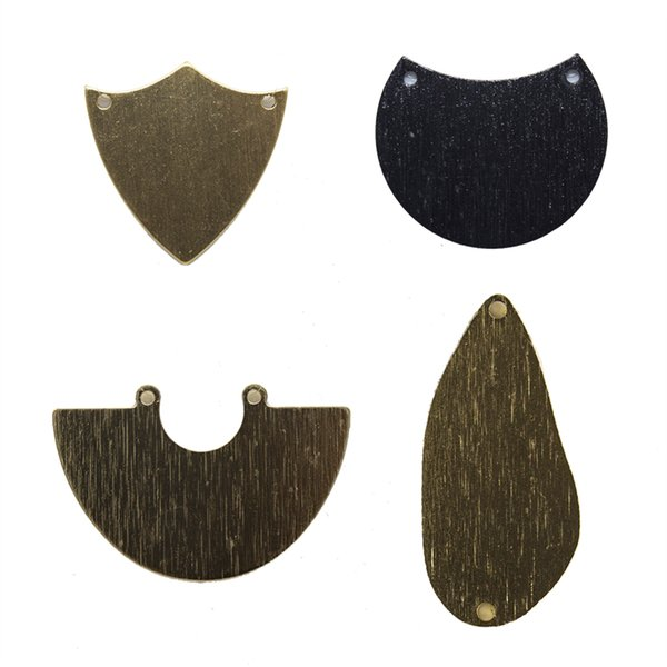 Aluminum Alloy Irregular Pendants Connectors with 2 Holes Oxided Gold Silver Black DIY Accessories Jewelry Findings & Components Wholesale