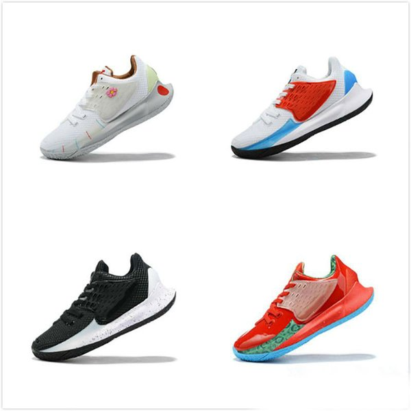 New Kyrie Low 2 Men Basketball Shoes 2s Breathable Fabric Trainers Irving 2.0 White Red Black Blue Sports Sneakers