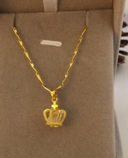 moda de bajo precio de alta calidad de oro lleno de hombres * mujeres collar de cadena colgante 13tr