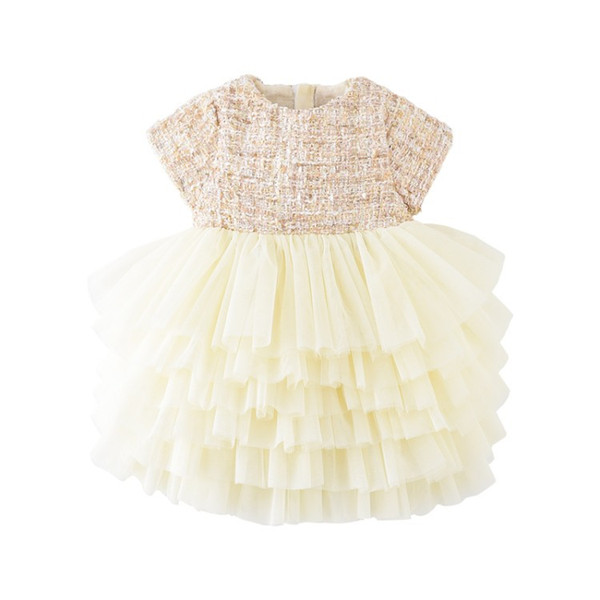 Baby Girls designer Dress Cute Mesh Party Pageant Tutu Dress Toddler Kids Dress For Girl Clothes Vestidos B50