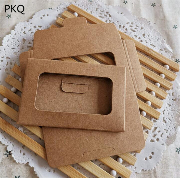 100pcs/lot 88*56*3mm small vintage kraft paper diy multifunction envelope postcard packaging box greeting p post card bag