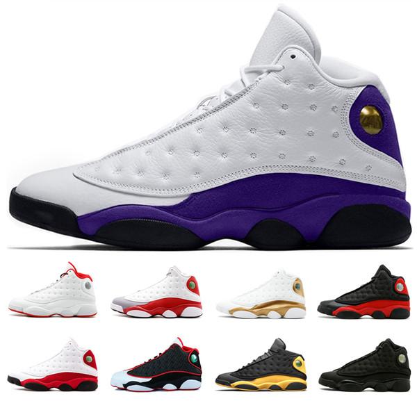 retros 13 Top 13s Herren Basketballschuhe Court lila Hyper Royal Bred Er hat den Namen Grey Toe Melo Class von 2003 Sportschuhe Designer Sneakers