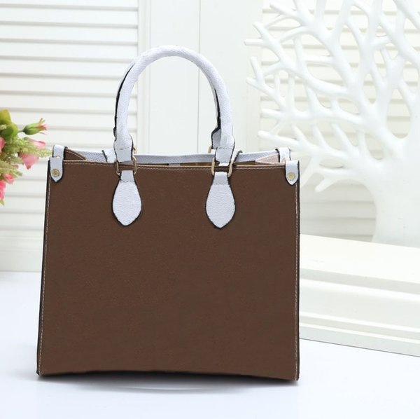 Designer handbag 2019 new brand women's bag high quality color matching large capacity 30*12*25 CM shopping bag designer shoulder bag