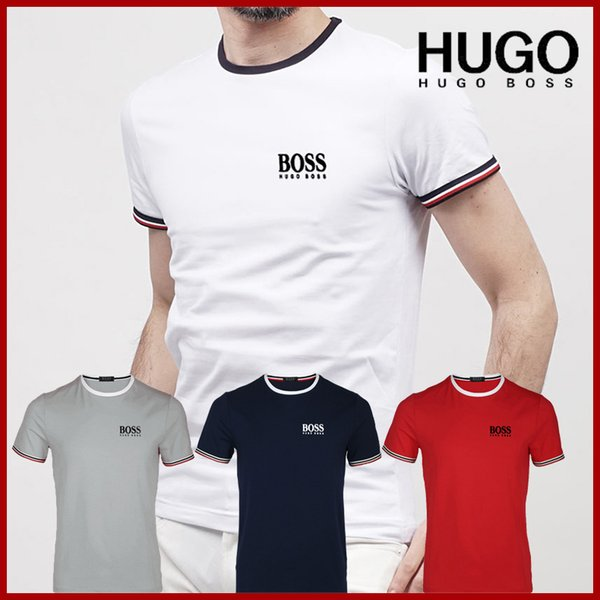 2020 Fashion luxe célèbre designer de la marque T-shirt Hip Hop blanc Vêtements pour hommes Casual T-shirts pour hommes avec des lettres T-shirt imprimé Bosses