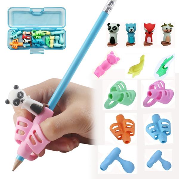 Çocuk hediye kalem tutucu Çocuk Kalem Tutucu Yazma kümesi Kalem Tutma Duruş Düzeltme tutun