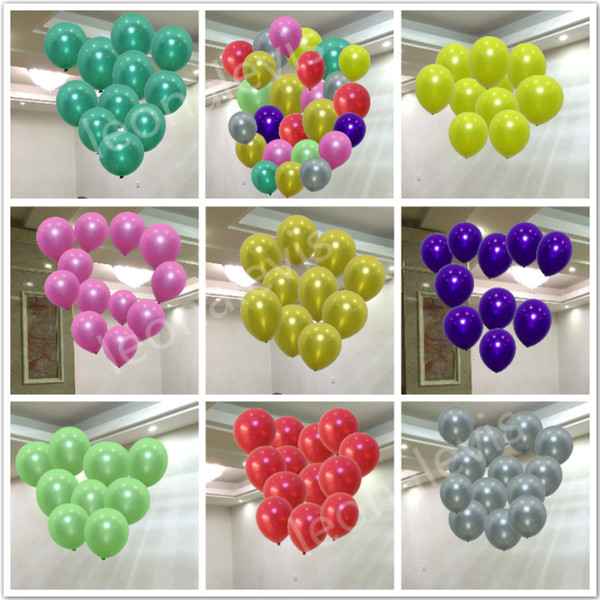 best selling 100pcs Lot 1.5g Inflatable Pearl Latex Balloon for Wedding Decorations Air Ball Party Supplies Happy Birthday