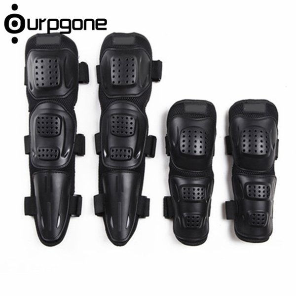 4 Unids / set Adulto Deportes Moto Moto Carreras de Bicicletas Patinaje Elbow Knee Shin Armor Guardia Protector Guardias Protector Gear Pad # 146795