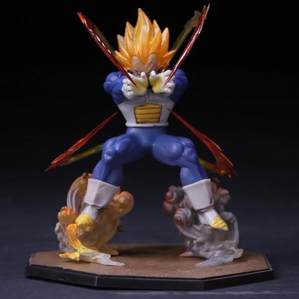 15cm Dragon Ball Z Vegeta Zero Version Action Figure DBZ Shock Wave Battle Ver PVC Collectible Model Toy Free Shipping Y190529