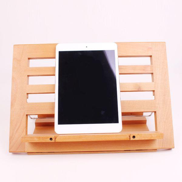 Wooden reading frame reading bookshelf reading stand notebook tablet bracket recipe rack large customizable children's gifts