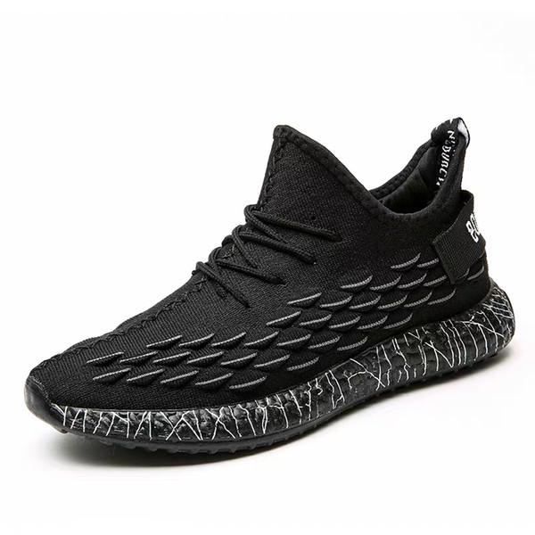 Bahar 2019 yeni hindistan cevizi rahat spor ayakkabı nefes siyah ayakkabı erkekler eğilim koşu ayakkabı almak