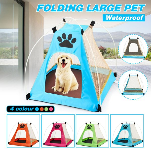 Portable Folding Pet Tent Dog House Cage Dog Cat Tent Playpen Puppy Kennel Fence Outdoor Supplies SH190713