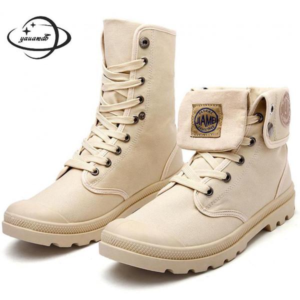 stivali da uomo primavera autunno stivali da lavoro da lavoro maschili caviglia con tacco punta tonda piattaforma allacciata tinta unita scarpe uomo comode Y40