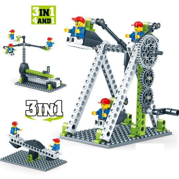 Tested Mechanical Gear Technic Building Blocks Engineering Children's Science Educational Stem Toys 3in1 Compatible With Legoed MX190730
