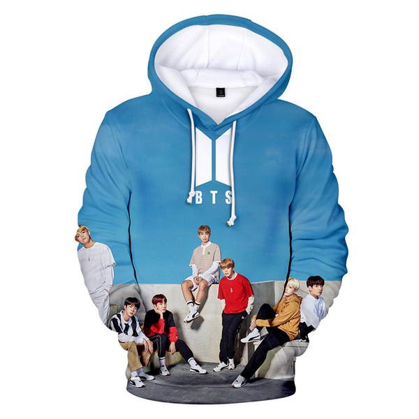 Hoodies Sweater Fashion Sweatshirt new European and American hot Trend Jacket digital printing 3D hood long sleeve and then sweater