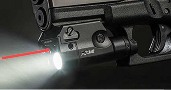 XC2 Laser Light Компактный пистолетный фонарик с красной точкой Лазерный тактический светодиод МИНИ Белый свет 200 люмен Airsoft фонарик