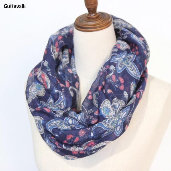 wholesale infinity loop vintage floral circle loop infinity scarf US SELLER