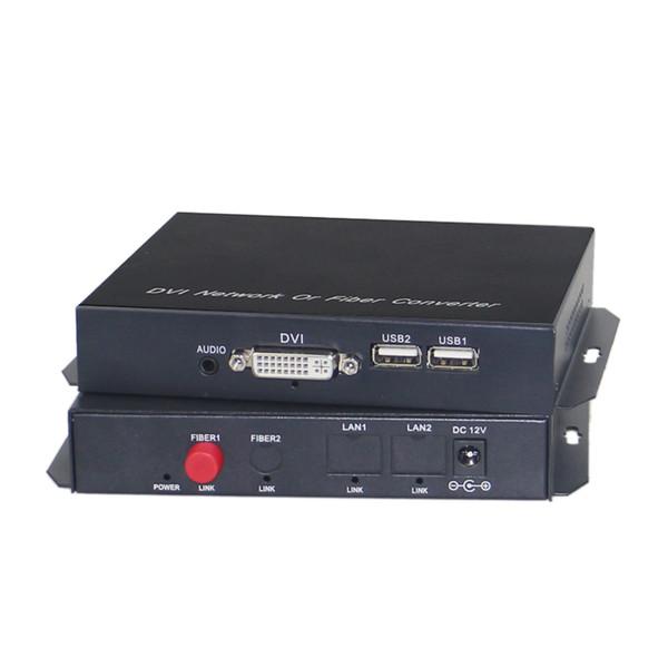 DVI to fiber converter extender 1080p dvi video audio over fiber optic transmission up 20KM