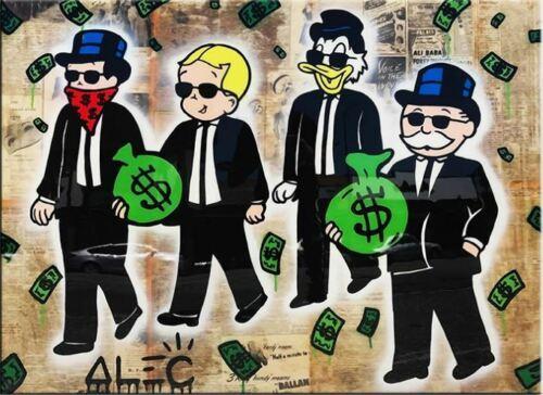 Alec Monopoly Banksy Haute Qualité Peint À La Main HD Impression Abstraite Graffiti Art Peinture À L'huile Gentelmen Crew Sur Toile Mur Art Décor À La Maison g70