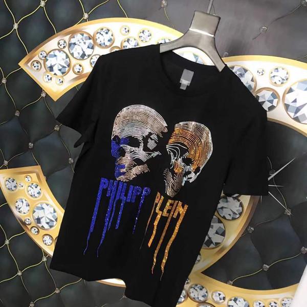 Marque Hommes T-shirts D'été Cool De Luxe Hommes T Shits Designer À Manches Courtes Tee Shirts Casual Hommes Vêtements 2 Couleurs S-XXL Dispo