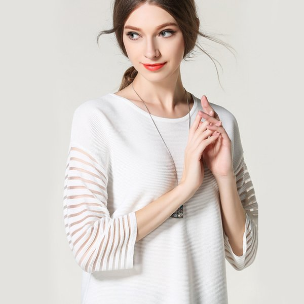Pop2019 And Guangzhou The Horse Europe Station Suit-dress White Hollow Out Knitting Unlined Upper Garment
