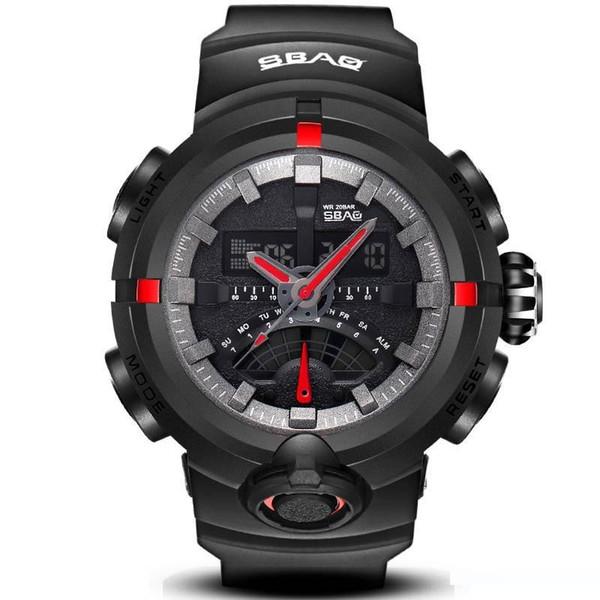 Liquid Crystal Display-Doppel Uhren Doppelanzeigewasserdicht LCD Digital Electronics Uhren Multifunktions-Armbanduhr