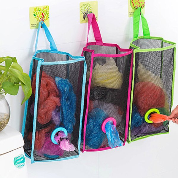 2019 High Quality Folding Breathable Mesh Hanging Kitchen Garbage Bags  Storage Pouch Sorting Gloves Socks Organizers From Zhexie, $36.1 |  DHgate.Com