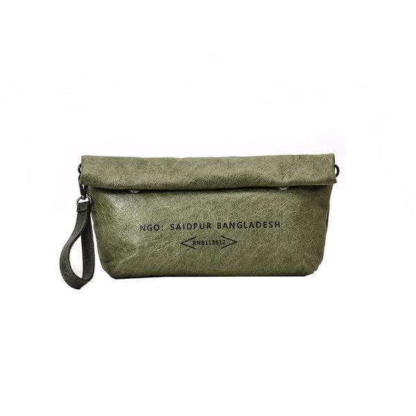 Summer Simple Letter Kraft Paper Ladies Crossbody Bags For Women Bag Retro Washed Art Portable Diagonal Shoulder Bag Handbag