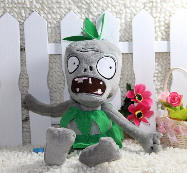 Plants vs Zombies en peluche peluche - Robe verte Zombie 28cm / 11 pouces Grand