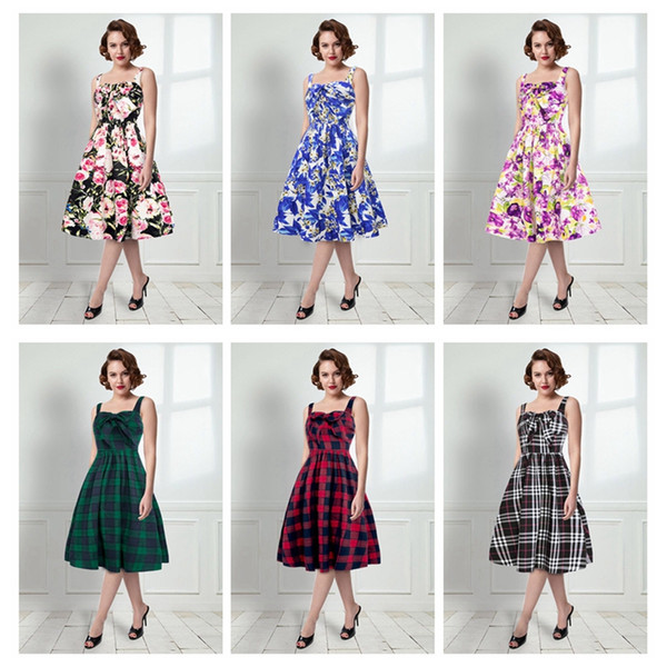 6 styles New women elegant dresses summer clothes women fashion flower striped pattern lady party casual seaside holiday dress