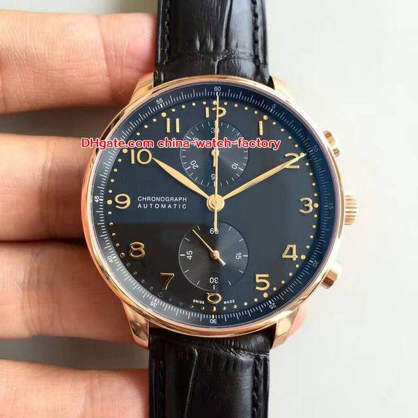5 Art-heißen Verkauf beste Qualität ZF 41mm Portugiesisch IW371402 IW371417 Chronograph Arbeits CAL.79350 Bewegung Automatik Herren-Uhr-Uhren