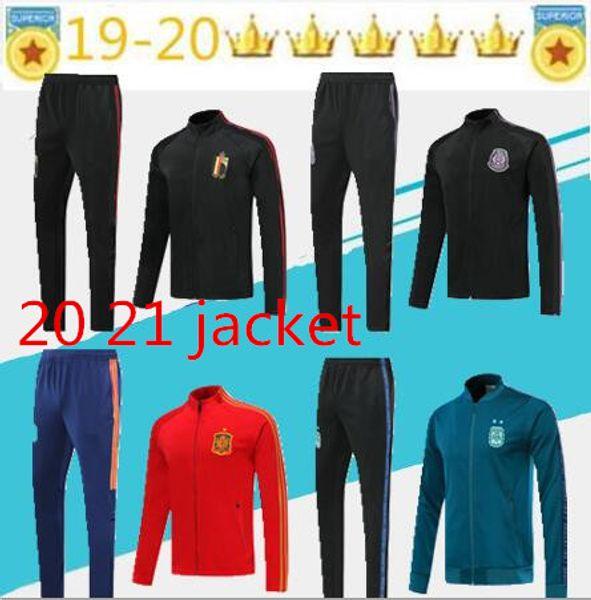 2019 2020 Argentina Bélgica agasalho completo treino de futebol Zipper survêtement 19 20 spain mexico de futebol tamanho jaqueta terno treinamento S-XL
