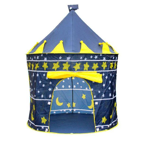 Blue Game House Castle Tent Child Tents DIY Cotton Polyester Fiber Princess Girl Play Boy