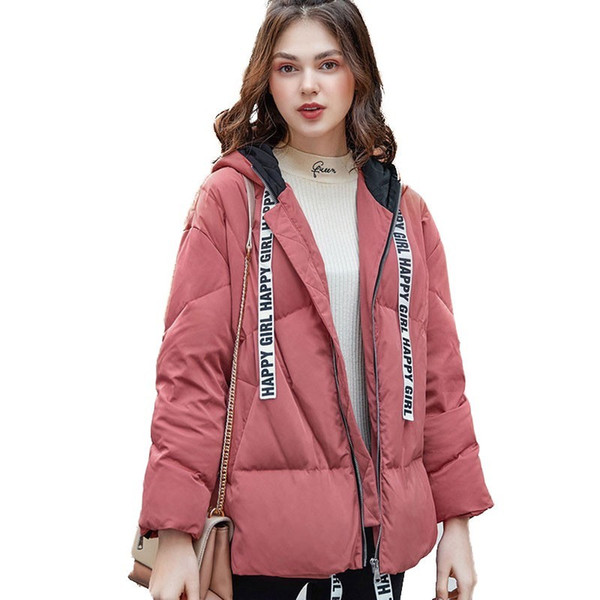 Winter Short Hooded Down Jacket Female Thick Warm Coat 2018 New Personality White Duck Feather Upper Outer Garment Women HJ112