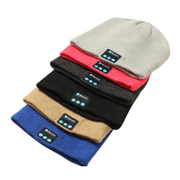2019 bluetooth hat music beanie cap bluetooth v4.2 fone de ouvido estéreo sem fio speaker microfone handsfree para iphone 7 samsung galaxy s7