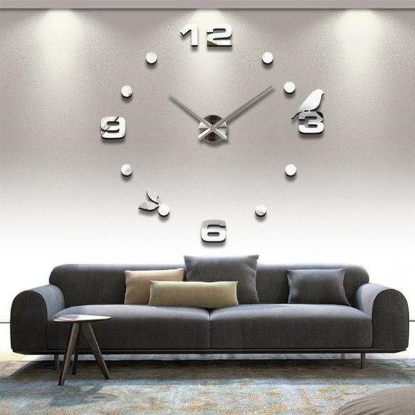 New Art Wall Clock Background Wall Stickers TV Wall Stickers Home Accessories