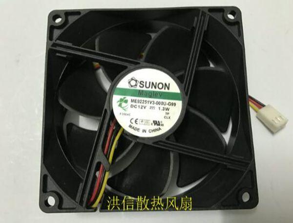 Original SUNON 9025 ME92251 V3-000U-G99 DC12V 1.3W de tres hilos ventilador silencioso / EF92251S3-Q000-S99 12V1.32W ventilador silencioso de cuatro hilos