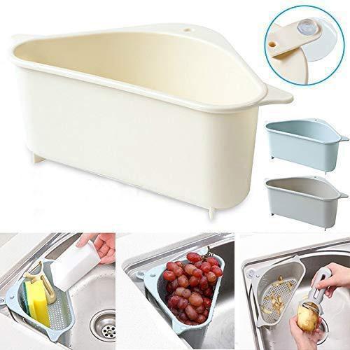 Multifuncional de drenaje estante fregadero de cocina de almacenamiento en rack de almacenamiento de soporte del lechón baño de esquina Soporte colgante del estante Soap Box Organizador XD22708