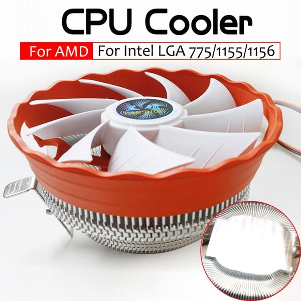 CPU Cooler Fan 12V Hydraulic Bearing Heatsink RGB Fan Computer PC Case Cooling Radiator for Intel LGA 775 1150 1155 1156 AMD1150