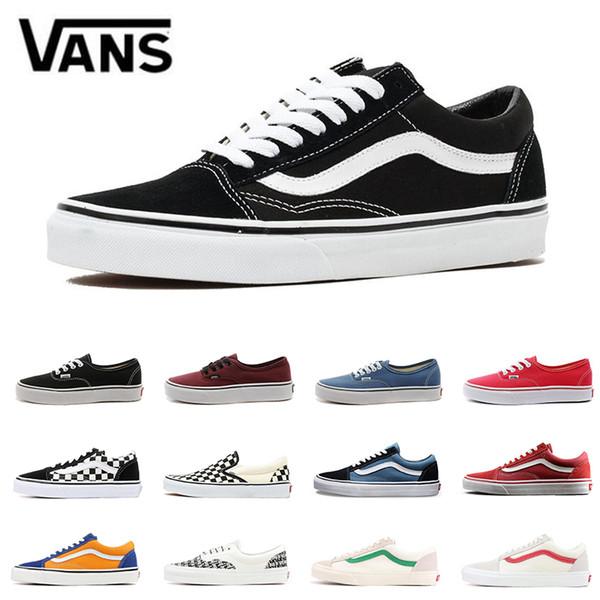 Yacht Club Vans Old Skool Men S: 2019 Flames Original Old Skool YACHT CLUB Skate Shoes