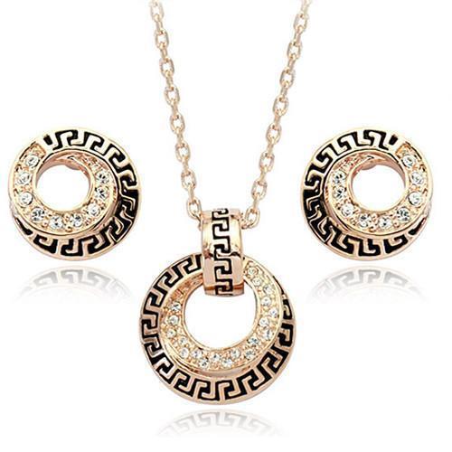 3-pièces de exquise européenne et boucles d'oreilles de la mode américaine, des colliers et des ensemble de bijoux pour les hommes et les femmes
