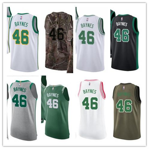 the latest 812c0 9a4c8 2019 Custom 2019 Basektball Boston Celtic Jerseys #46 Aron Baynes Jerseys  Men#WOMEN#YOUTH#Men'S Baseball Jersey Majestic Basketball Jersey From ...