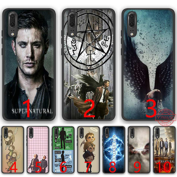 A Very Supernatural Christma Soft Silicone Black TPU Phone Case for Huawei P8 P9 P10 P20 Lite Pro P Smart Cover