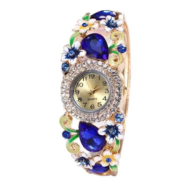 Women Round Full Diamond Bracelet Watch Analog Quartz Movement wrist watches for women Simple leisure new Wrist Watch