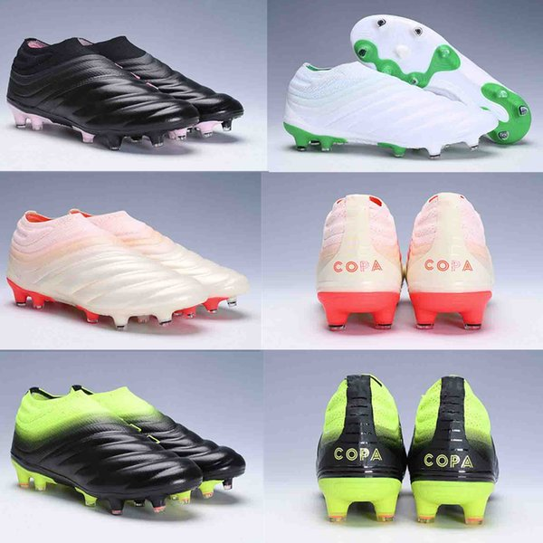 2019 original Best Brand Mens Copa 19+ Mundial FG Soccer Cleats FG Leather  Soccer Shoes World Cup Football Boots f3496f7f53b