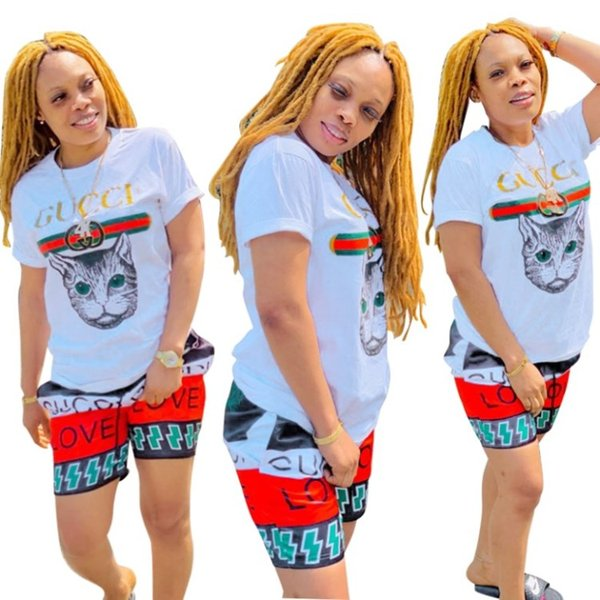 Women designer clothes summer tracksuit womens tops short pant casual sport 2 piece set women tops shorts klw1644