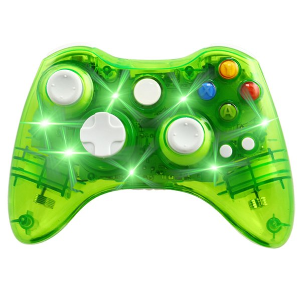 2019 Transparent Wireless Controller Game Remote Controller Gamepad  Joystick With LED Light For Microsoft For Xbox 360 Free DHL From  Best_price2018,