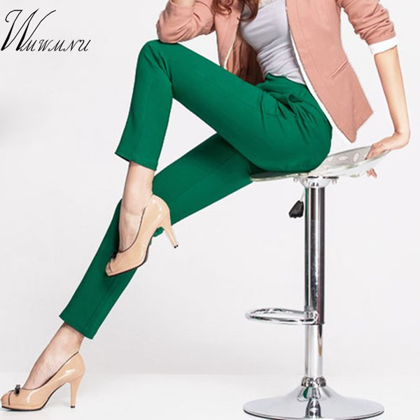 2018 NEW women's casual OL office Pencil Trousers Girls's cute 12 colour Slim Stretch Pants fashion Candy Jeans Pencil Trousers T5190603
