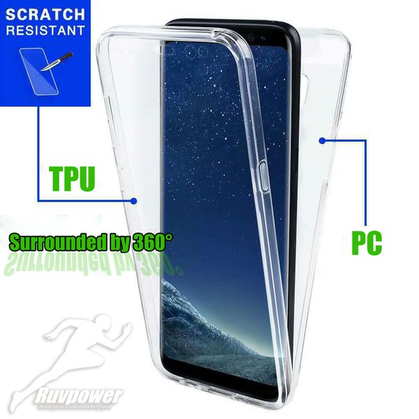 360 Grad-voller Körper-Abdeckungs-Fall-vorderer weicher TPU-rückseitiger harter PC freier Schutz-Fall für iphone Samsung Huawei Xiaomi aller Handy