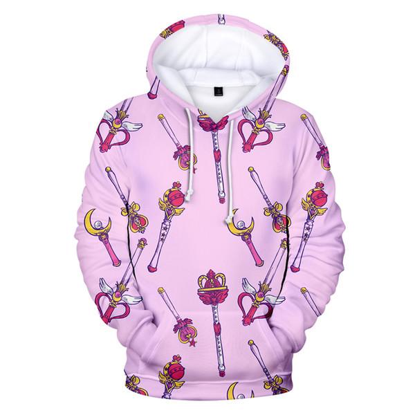 Aikooki New Sailor moon 3D Hoodies Men/women sweatshirts Fashion Spring/winter Hoodie Boys/girls Casual 3D Hooded Outwear Top